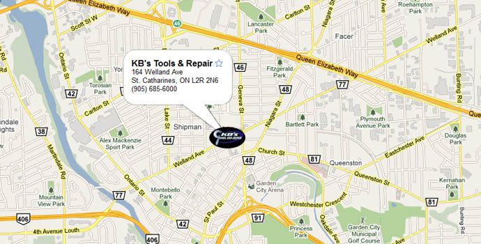 Map, find KB's Tools & Repair